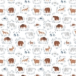 Brave Enough to Dream Flannel F1552 White Wild Things Timeless Treasures