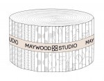 KimberBell Basics White Assortment Jelly Roll Strips, Maywood Studio