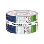 Red White and Bloom Jelly Roll Strips Maywood Studio