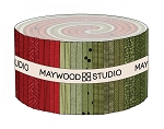 Maywood Flannel Woolies Jelly Roll Strips Holiday Warmth