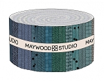 Maywood Flannel Woolies Jelly Roll Strips Stormy Seas