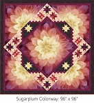 Sweet Dreams Sugarplum Digital Panel Large Quilt Kit, Hoffman