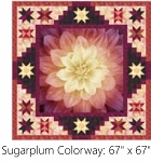 A Sweet Dreams Sugarplum Digital Panel Small Quilt Kit, Hoffman