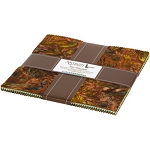Wildlife Sanctuary 6 Batik Ten Squares Layer Cake, Robert Kaufman
