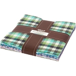 Mammoth Junior Flannel Cool Color Layer Cake Robert Kaufman