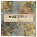 Stonehenge Gradations Tiles Dark Mixers Layer Cake Northcott