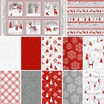Winter Frost Flannel Yard and Panel Collection, Henry Glass