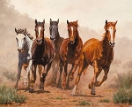 Break Away Wild Horses WW32210C1 Digital 36 Inch Panel, David Textiles