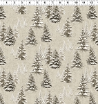 Quilt Minnesota 2021 Y3315 12 Khaki Snow Trees Clothworks