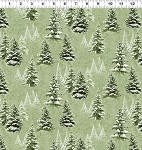 Quilt Minnesota 2021 Y3315 23 Light Olive Snow Trees Clothworks