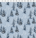 Quilt Minnesota 2021 Y3315 87 Light Denim Snow Trees Clothworks