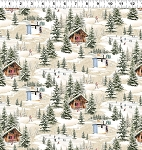 Quilt Minnesota 2021 Y3316 62 Taupe Digital Winter Toile Clothworks