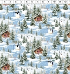 Quilt Minnesota 2021 Y3316 90 Blue Digital Winter Toile Clothworks