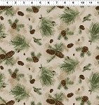 Quilt Minnesota 2021 Y3317 65 Caramel Pine Branches Clothworks