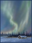 Alaskan Northern Lights Digital Panel ALAS102, P & B Textiles