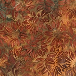 Cornucopia 9 Batiks 16828 179 Rust Sunflower Artisan Batik by Robert Kaufman