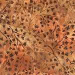 Cornucopia 9 Batiks 16829 179 Rust Mini Leaf Artisan Batik by Robert Kaufman