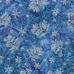 Northwoods Metallic Winter 16837 277 Winter Pine Bough, Artisan Batiks by Robert Kaufman