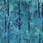Northwoods Metallic Winter 16838 277 Winter Tree Trunk, Artisan Batiks by Robert Kaufman