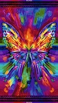 Awaken CD6550 Bright Abstract Butterfly Panel, Timeless Treasures