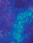 Awaken CD6554 Blue Swirl, Timeless Treasures