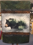 Call of the Wild Bear P4345 Wallhanging Quilt Kit, Hoffman
