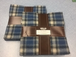 Mammoth Flannel Blue Plaids Raggy Cakes Quilt Kit, Robert Kaufman