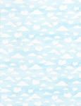 Cotton Tale Farm Flannel CF5824 Sky Cloud, Timeless Treasures