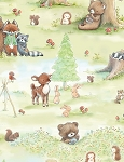 Forest Friends C6715 Pistachio Activities, Timeless Treasures