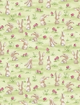 Forest Friends C6716 Grass Curious Bunny, Timeless Treasures