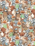 Forest Friends C6721 Multi Packed Friends, Timeless Treasures