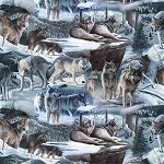 Search for Survival Digital Wolves BW00417CW1, David Textiles