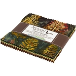 Northwoods Metallic Forest Charm Pack, Artisan Batiks by Robert Kaufman