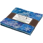 Northwoods Metallic Winter Charm Pack, Artisan Batiks by Robert Kaufman