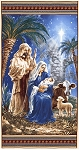 Blue Holy Night Panel C6011 Blu, Timeless Treasures