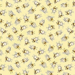 Bunnies C6455 Yellow Bunny Bees, Timeless Treasures