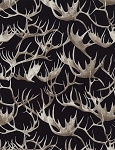 Antlers C4809 Black, Timeless Treasures