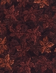 Packed Maple Leaves Flannel CF4808 Rust, Timeless Treasures