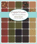 Delightful December Charm Pack, Sandy Gervais by Moda