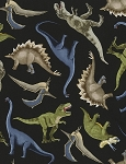 Tossed Dinosaurs C5726, Timeless Treasures