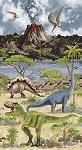 Dino World Panel C6585 Stone, Timeless Treasures
