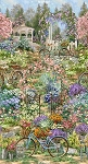 Flower Market Scene C4832 Garden, Timeless Treasures