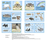 Noah's Ark DP21633 42 Book Panel, Northcott