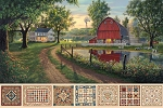 Heritage Quilting DP21927 12 Farmstead Digital Panel, Northcott