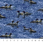 Naturescapes Loon Lake DP22049 44 Loons in Lake Digital Print, Northcott