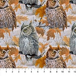 Naturescapes Nightfall DP22464 91 Multi Owls Digital Print, Northcott