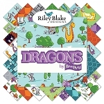 Dragons 10 Inch Layer  Cake Squares, Riley Blake