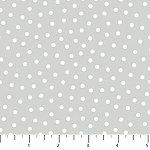 Once Upon A Cloud Flannel F21925 92 Grey Dots, Northcott