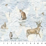 Enchanted Forest Flannel F22301 41 Animals, Northcott