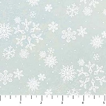 Enchanted Forest Flannel F22305 42 Blue Snowflakes, Northcott